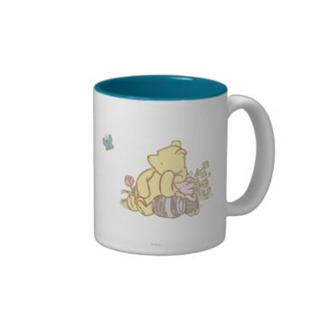 Classic Winnie the Pooh and Piglet 1 Two-Tone Coffee Mug