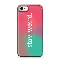 Stay Weird Pink and Green Ombre iPhone 6 | iPhone 6S case