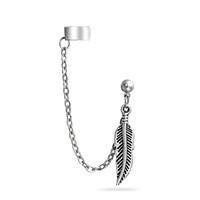 Bling Jewelry Ear Feather Cuff