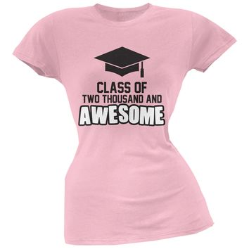 Two Thousand and Awesome Pink Juniors Soft T-Shirt
