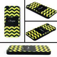 iPhone 5 Cell Phone Case Oregon Green Yellow Football State Tailgate Ducks Apple Personalized Protective Black Plastic Hard Cover VM-1028
