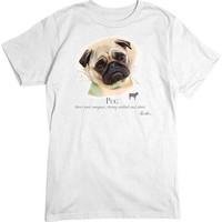 [Short Sleeve Tee] - Pug Portrait