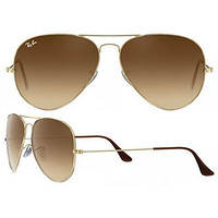 Tagre™ Ray Ban Aviator RB3025 Sunglasses 001/51 Gold with Brown Gradient Lens