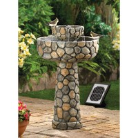 Wishing Well Solar Powered Garden Water Fountain