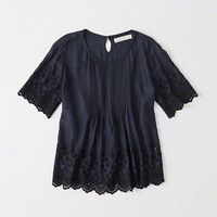 Womens Embroidered Top   Womens Tops   Abercrombie.com