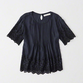 Womens Embroidered Top | Womens Tops | Abercrombie.com