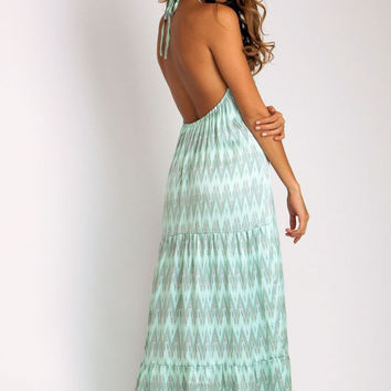 Coolie Maxi Dress in mint
