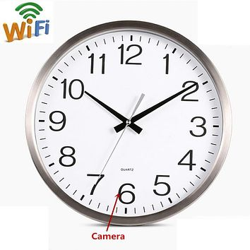 Wall Clock Spy Hidden Camera DVR WiFi 1080P HD Motion Detector Nanny Record Cam