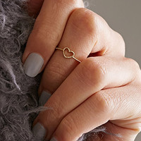 Flash Trash Heart Midi Ring