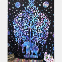 Indian Tree Of Life Tapestry Hippie Mandala Tapestry Bed sheet  Beach towel Blanket Perfect gift For Home/Office Decor.