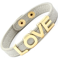 Gray Love Block Bracelet - Love Always by Stephanie Diaz