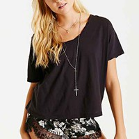 Truly Madly Deeply Oversized Roped Scoop-Neck