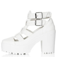 ARCADE Cut Out Boots - White