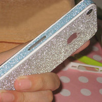 Cool Sparking Pink Nice Shiny Rhinestone Fashion Sticker For iPhone 5