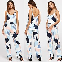 Fragment Print Pants Set