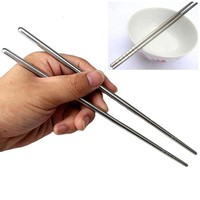 1 Pair Stainless Steel Chopsticks