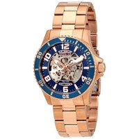 Invicta Objet D Art Automatic Blue Skeletal Dial Mens Watch 22605
