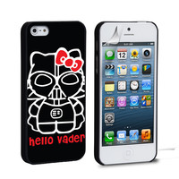 Hello Kitty Darth Vader iPhone 4 5 6 Galaxy S3 4 5  Case