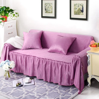 couch cover Autumn Winter fabric AB double sides Sofa Cover Slip-Resistant Sofa Cover spring summer slipcover solid color