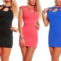 Cutout Cap-Sleeve Bodycon Dress