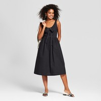 Women's Sleeveless Lace-Up Tank Dress - Who What Wear™ Black