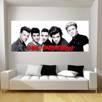 One Direction Fathead-Style Decal Sticker Wall or Door Graphic 1D - ON SALE!