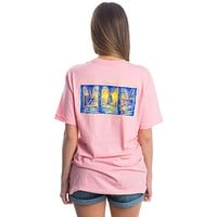 Watching the Tide Roll Away Pocket Tee in Cotton Candy Pink by Lauren James