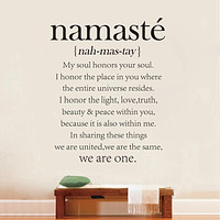 Namaste Definition Quote Decal