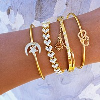 Moon Star Heart Bracelet Set