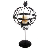 Hollow Out Iron Cage Candle Stand Creative Decoration Home Decor [6283031942]