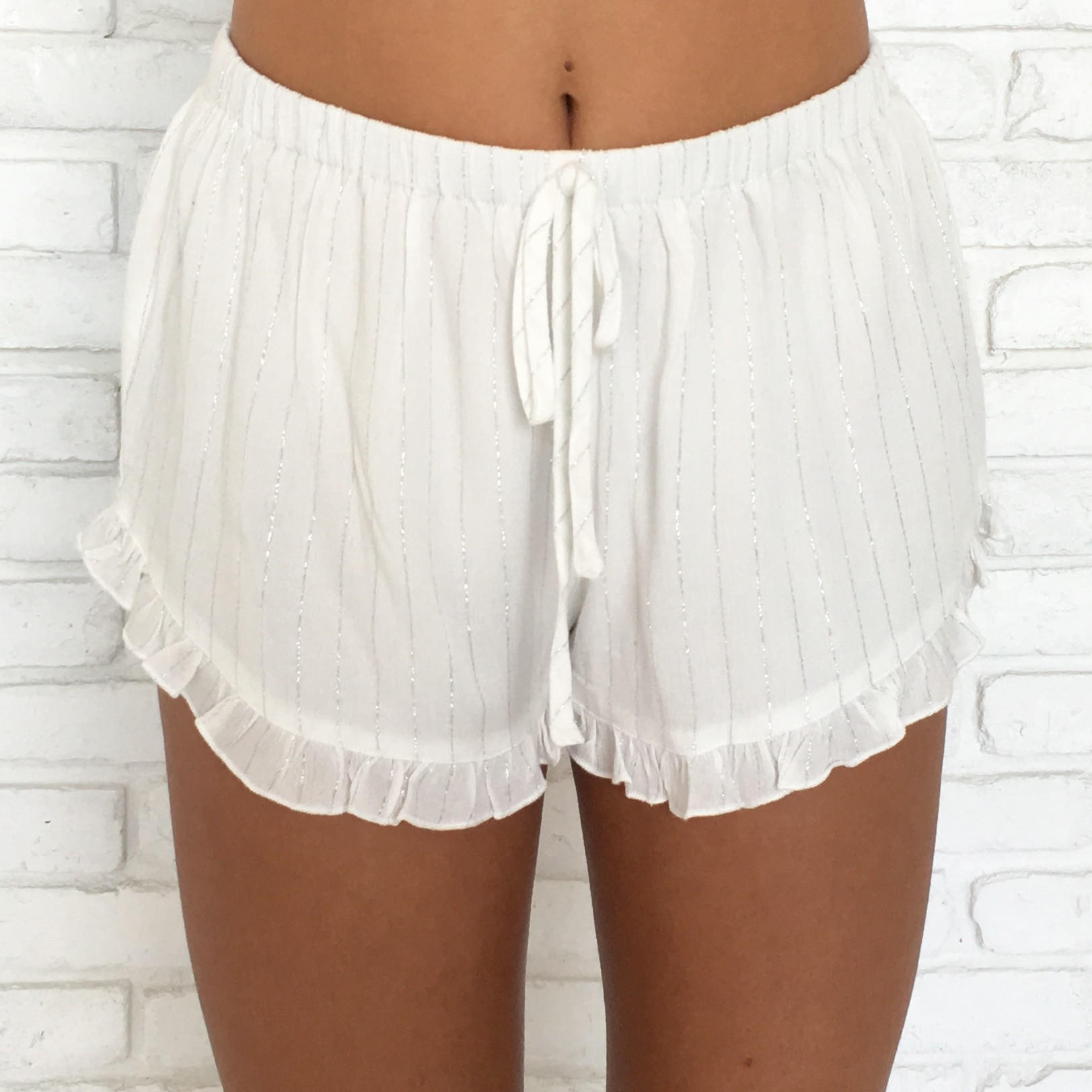 Image of Sparkle In The Sun Ruffle Shorts