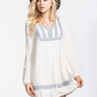 Blu Pepper Emblem Tunic Ivory  In Sizes