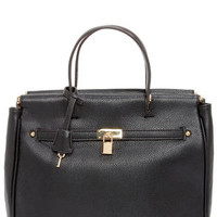Under Lock and Key Black Purse