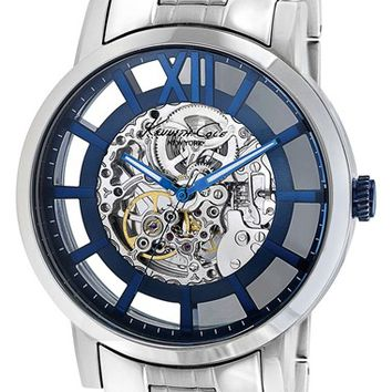 Men's Kenneth Cole New York Round Automatic Bracelet Watch, 46mm