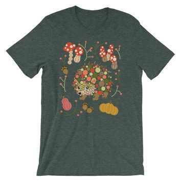Hedgehog Shirt Colorful Graphic Tee - Shipping Included