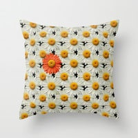 IN A DAISE Throw Pillow by catspaws