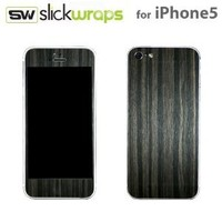 Slickwraps Wood Series Protective Film for iPhone 5 - Gold Flake Ebony