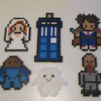 DIY Kit - Doctor Who Inspired Doctor-Donna Magnets, Ornaments, or Wall Decor