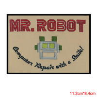 MR ROBOT FSOCIETY WHITE TV SHOW HIGH QUALITY PATCH IRON SEW ON US SELLER