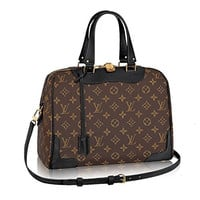 Authentic Louis Vuitton Monogram Canvas Retiro NM Tote Handbag Article:M50058 Noir Made in France