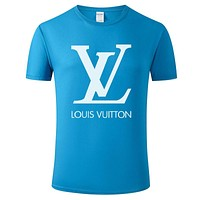 Louis Vuitton LV explosive T-shirt comfortable and popular round neck sports trend top