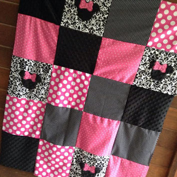 Minnie Mouse Minky Blanket