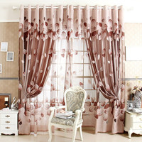 Window Curtains For Living Room 100% Blackout Curtain Curtain Patterns Leaves Made to Measure Online Shop
