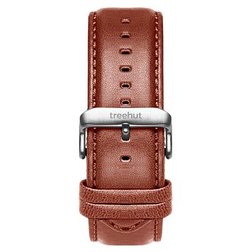 22mm Cognac Brown Padded Leather Band