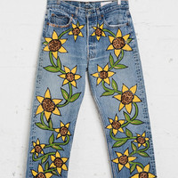 Vintage Levi's Floral Cheetah Jean - Urban Outfitters