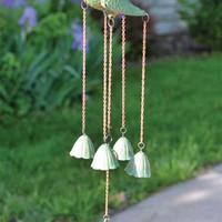 SONATA WINDCHIMES - Verdigris Bird Wind Chimes