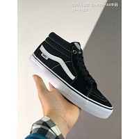 Vans SK8-Mid cheap mens and womens Fashion Canvas Flats Sneakers Sport Shoes