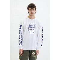 Vehicle Long Sleeve Tee in White