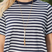 Bourbon And Boweties - Pearl Tassel Necklace