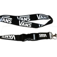Vans White Lanyard ID Holder Keychain - Perfect gift for a Doctor Dentist Nurse Teacher IT Information Technology Manufacturing Security Badge Holder